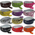 Внешний вид - GIRLS/KIDS Skinny Leather Belt 4 sizes S / M / L / XL - 13 COLORS