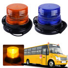 Car Bus Magnetic LED Emergency Beacon Flash Strobe Warning Light Amber/Blue 12V