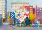 Worcester DOWNTOWN GLORY Flag Mural Giclee Paper or Canvas