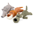 Pet Toy Animal Shape Lion Elephant Sound Chew Three Colors Interactive Toys