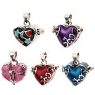 Enamel Heart Design Treasure Container Wish Locket Urn Ash Holder Casket Box