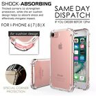 Silicone Shockproof Soft Gel Clear Case Cover For iPhone 7 8 6 6s Plus X Lot
