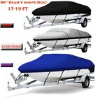 New+17+20+21%2D24+Ft+Waterproof+Heavy+Duty+Fabric+Trailerable+Pontoon+Boat+Cover+A