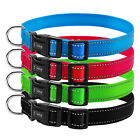 Reflective Nylon Dog Collars Adjustable Break Away Dog Collar With D-ring S-XL
