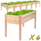 6X Wooden Vegetable Raised Garden Bed Patio Backyard Grow Flowers Plants Planter