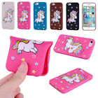 Bling Unicorn Pattern Soft TPU Case Protective Cover for iPhone 5 6 S 7 8 Plus