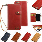 PU Leather Magnetic Buckle & Wallet Flip Stand Case for iPhone 5 S SE 6 7 Plus