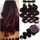 3 TISSAGES Extension PÉRUVIEN VIRGIN HAIR 1B/99J BODY WAVE 50g/pc With Closure