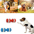 Rubber Dumbbell Chew Toys Pet Dog Puppy Cat Gum Teething Cleaning Training Toy