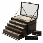 Wolf Designs Caroline Jewelry Box with 4 Storage Compartments by Wolf