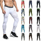 Mens Tights Apparel Gym Workout Compression Under Base Layer Running Long Pants