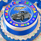 JAMES BOND PERSONALISED BLUE 7.5 INCH PRECUT EDIBLE CAKE TOPPER DECORATION $3.6 USD on eBay