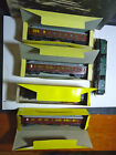 Liliput HO Wagen-Lits Passenger Dining and Baggage cars w/boxes Vintahe 1960s