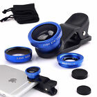 3in1 Clip On Camera Lens Kit Wide Angle Fish Eye Macro For Smart Phone