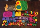 POP ONZ LOT FISCHER PRICE 55+ items SPIN TABLE building blocks moveable parts