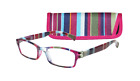 ICU Eyewear PURPLE STRIPES Women's Reading Glasses BLUE  +1.25 1.50 2.00 2.50 on eBay