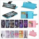 Pattern Leather Flip Wallet Case Cover For Doogee Acer Alcatel Wiko Moto  KB