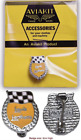 Classic 60's style Aviakit badge by Lewis Leathers Yellow / Red