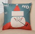 US STOCK Christmas Santa Sofa Throw Cushion Pillow Case Home Decors Pillowcase Q