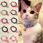 Necklace Collars Elastic Anti-Strangulation For Cat Kitten With Bell Japan Style