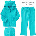 NWT Crazy 8 Girls Size 18-24 Months 2T Critter 3-D Ears Hoodie & Pants 2-PC SET