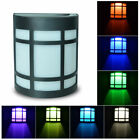 Solar Lamp Light Led Changing Outdoor Wall Garden Yard Landscape Security Light