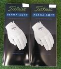Titleist PermaSoft Men's Golf Glove Lot of 2 Gloves NEW  Left Hand