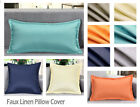 """Aiking Home Solid Faux Linen Pillow Cover With 1"""" Flange, Multi-Size & Color"""