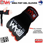 DAM INNER FIST GEL BANDAGES MMA BOXING INNER QUICK HAND WRAPS GLOVES STRAP BLACK