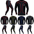 Compression Tights + Top Set Base Layer Body Armour Under Suit Skin Fit Shirt