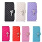 For iPhone 6 & 6 Plus Diamond Pendant Wallet Flip PU Leather Stand Case Cover