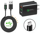 Qualcomm 3 USB Port Wall Charger+6ft Cable for MOPHIE PACK iPhone® Battery Cover