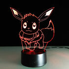 3D Night Light Lamp Pokemon Eevee Eievui Decoration LED Touch Switch Gift