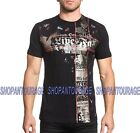 AFFLICTION Stacked Metal A19008 New Men`s Black T-shirt