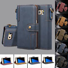 Wallet Case & PU Leather Magnetic Flip Folio KickStand Cover for Samsung S6 Edge