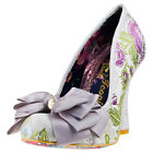Irregular Choice Ascot Womens Grey Fabric Casual Shoes Slip-on Genuine Shoes