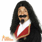 Adult Musketeer Wig Black Long French Medieval Fancy Dress Costume Accessory