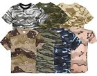 Milspec Surplus Men's Military Style Cotton Camouflage Army Hunting T-Shirt Top