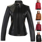 cheap womens parka jackets - Womens Faux Leather Motorcycle Jacket Slim Biker Parka Coat Overcoat CHEAP TOPS