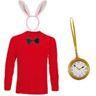 MENS ADULTS RABBIT FANCY DRESS COSTUME TOP BOW CLOCK EARS BOOK WEEK DAY