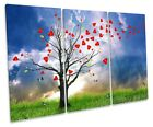 Love Heart Tree Abstract Picture TREBLE CANVAS WALL ART Print