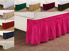 "NEW 14"" DROP SOLID EASY FIT SET UP AROUND ALL CORNERS 1 PC BED SKIRT IN FULL image"
