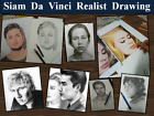 Commission Portrait Pencil Hand-Drawn Realist Drawing from your photos ArtWOrk