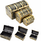 pirate jewelry storage box case holder vintage mini treasure chest xmas gift For Sale - 51