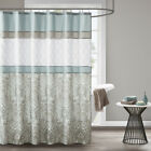 510 Design Shawnee Printed and Embroidered Shower Curtain with Liner