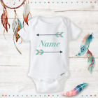 Personalized Unisex Onesie with Arrows Boho Baby Boy & Girl Baby Shower Gifts