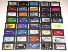 Vintage & Authentic Gameboy Advance Games Lot ~ Plays GBA SP DS DSL Mario Zelda