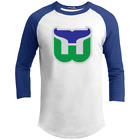 Hartford New England Whalers Connecticut Hockey Retro Jersey Defunct Log
