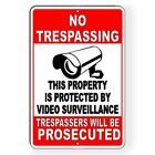 Kyпить Property Protected By Video Surveillance Warning Security 3 SIZES Metal Sign S24 на еВаy.соm