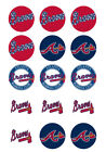 Atlanta Braves Edible Print Cupcake/Cookie Toppers Frosting Sheets 2 Sizes on Ebay